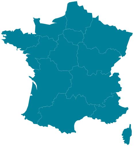 image carte de france des régions